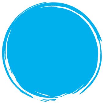Brush round _ light blue _ v 8