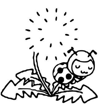 【Main Line Spring】 Ladybug Spring Material 0018