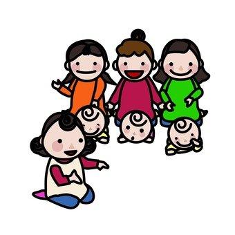 Child-raising volunteers