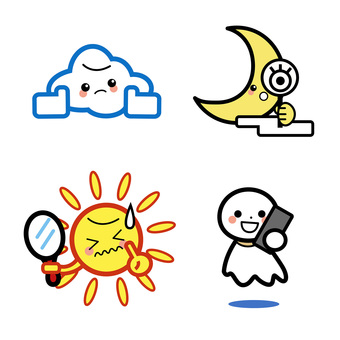 Simple Weather Character Set