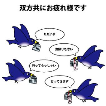 The work of a blue bird?