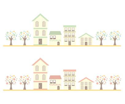Pastel color house