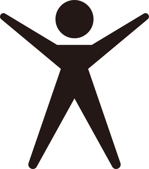 Human ☆ Pictogram icon (both hands raised)