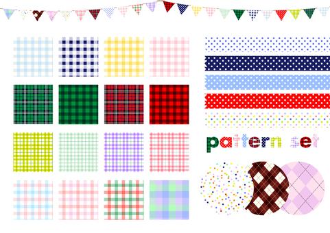Check and set of polka dot pattern