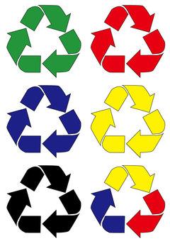 リサイクルマーク、資源再利用