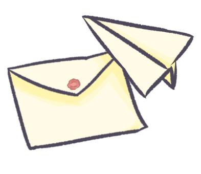 종이 비행기와 편지지