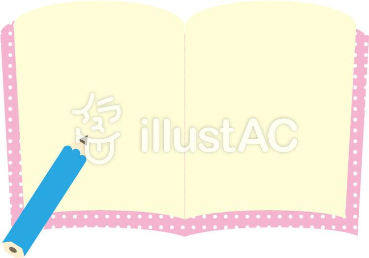 かわいいノートと鉛筆イラスト No 356145無料イラストなら
