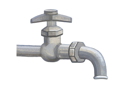 Water tap facing right