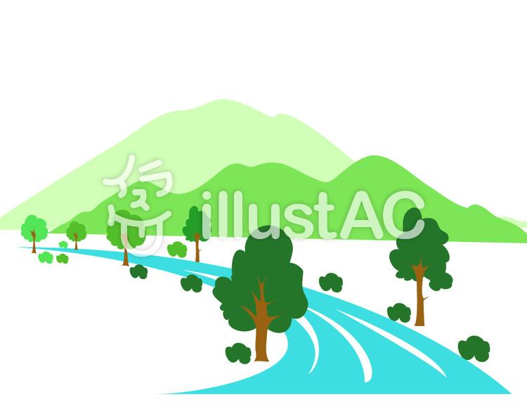 山と川のイラストイラスト No 661539無料イラストならイラストac