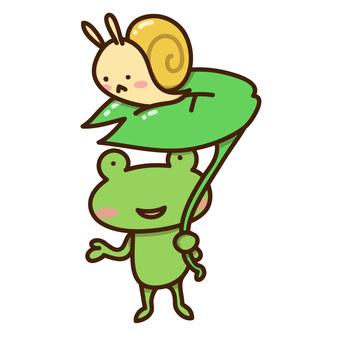 雨和青蛙蝸牛