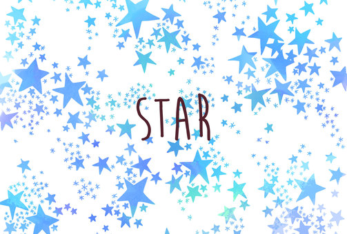 Watercolor starry background