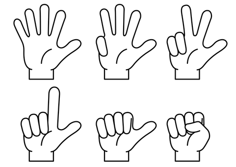 Hand finger icon 12
