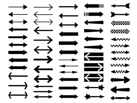Monochrome arrow material set