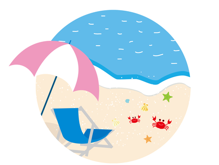 Summer sea chair and umbrella