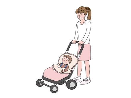 Pushchair and Mama 2