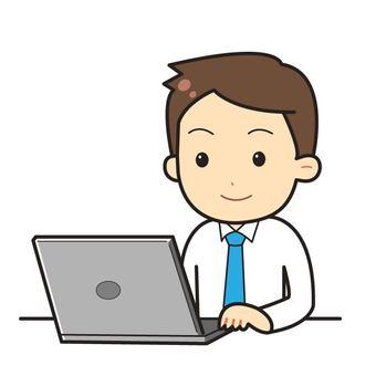 Man working on laptop_01