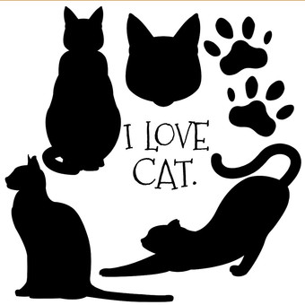 Cat's silhouette (black)