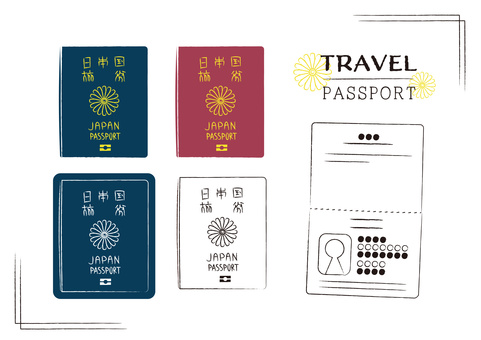 Overseas travel belongings Passport luggage