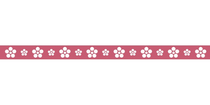 Japanese pattern plum line