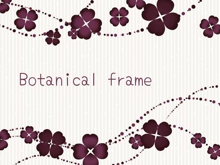 Clover frame / red