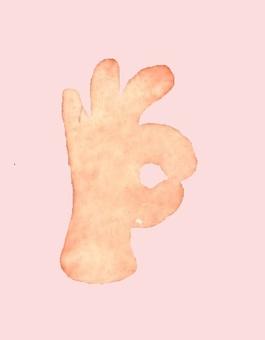 Hand of an okay sign