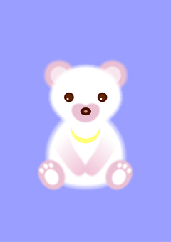White and pink bear