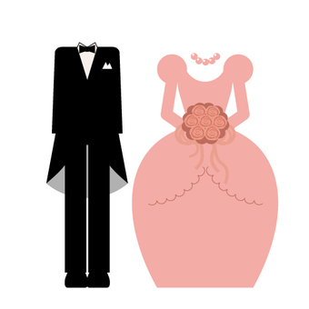 Wedding (tuxedo and dress)