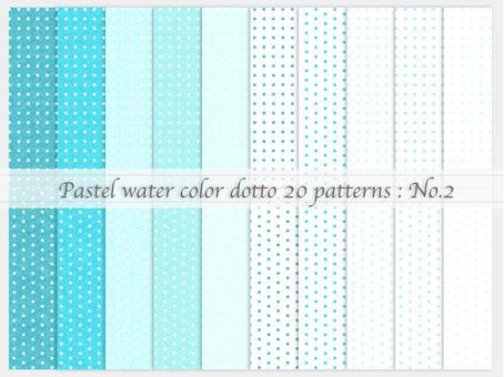 Watercolor style simple pattern (dot_02)