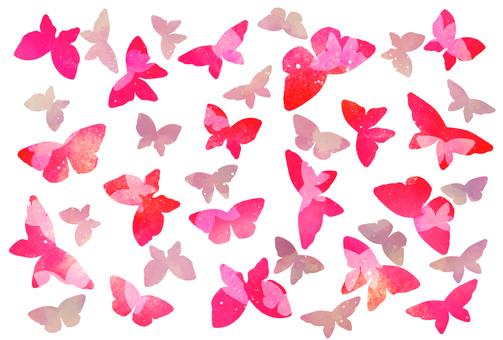 Blue sky blue butterfly butterfly postcard