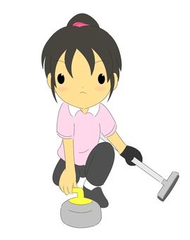 Curling girls 2