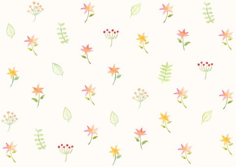 手描き水彩の花 背景素材