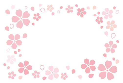 Mokomoko Sakura Frame 02 [Postcard]