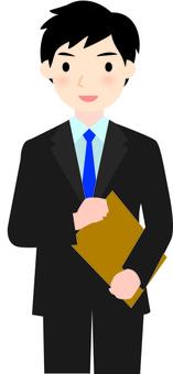 Businessman documents