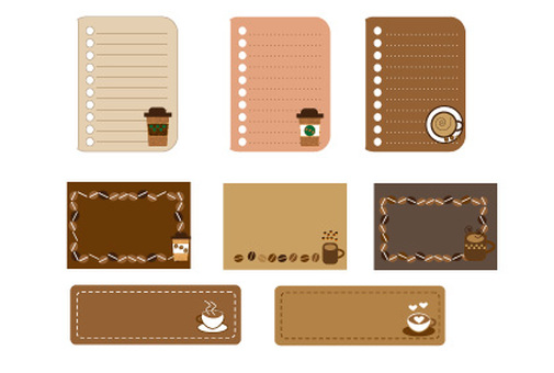 Cafe style memo and message card