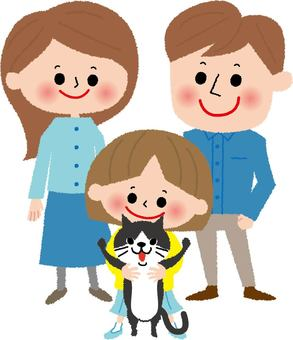 Cat and family
