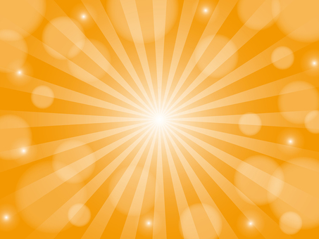Orange sparkling radiation background