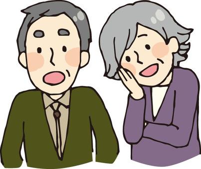 Couple (elderly, upper body)