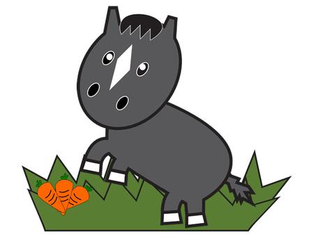 Horse (black deer hair)