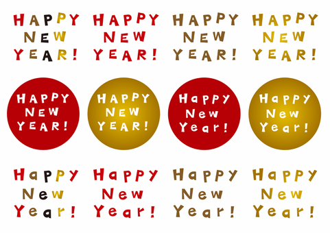 New Year card / English alphabet