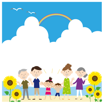 Good family 2 families Sea frame sunflower