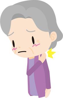 Stiff shoulder (old woman)