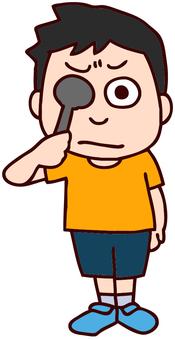 Illustration of visual acuity test