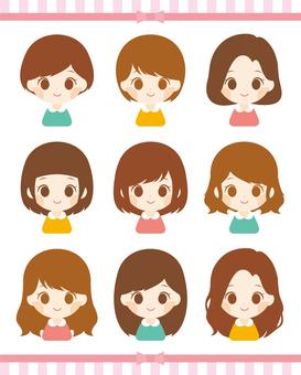 Girls Hairstyles Various