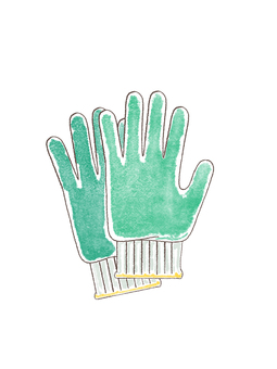 軍手 作業用手袋 手書き風イラスト