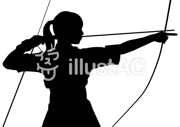 弓道女性イラスト No 416079無料イラストならイラストac