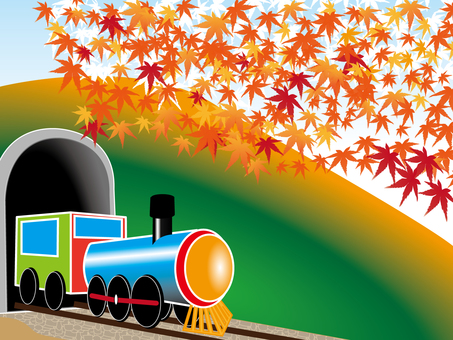 단풍과 기관차