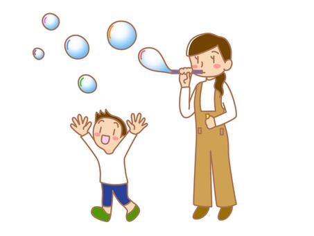 Soap bubbles and parents