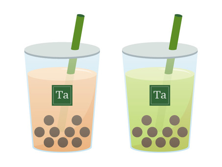 Tapioca drink (green straw)