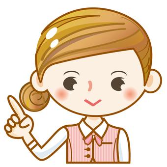 Female girls cute cute guide fingering clerk