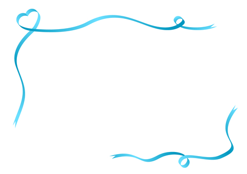Heart frame with ribbon (light blue)